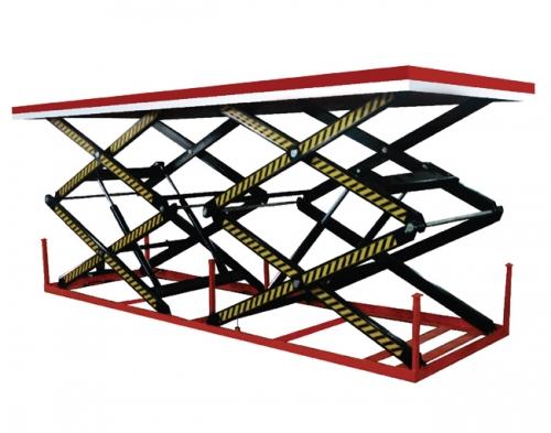 并列双剪叉结构电动液压升降平台车
